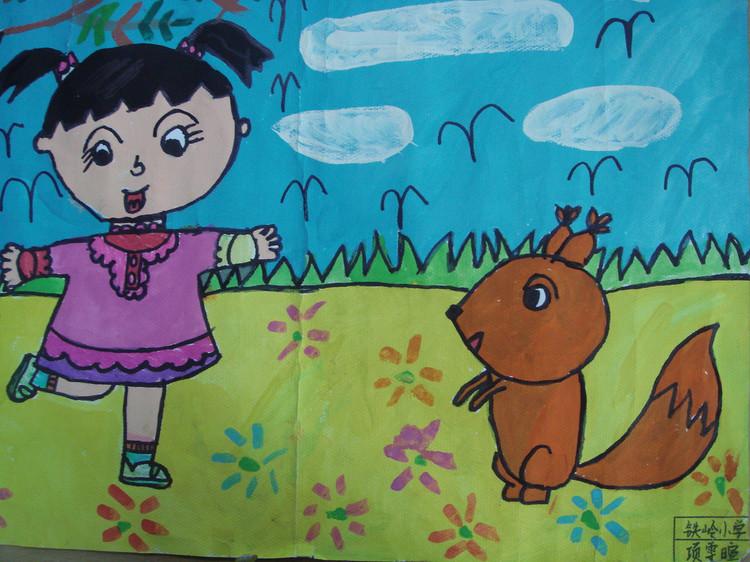 幼儿找春天画画