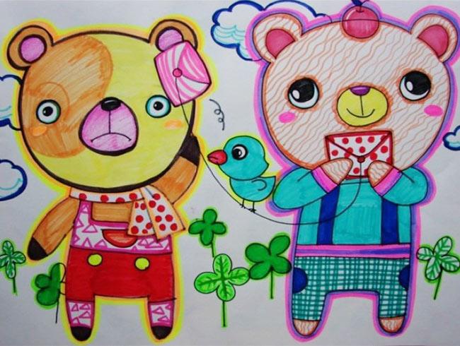 小熊-水彩画图集