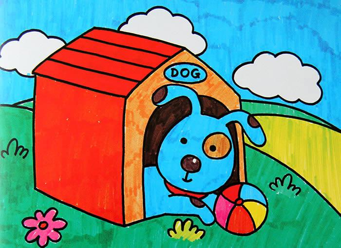 小狗-水彩画图集