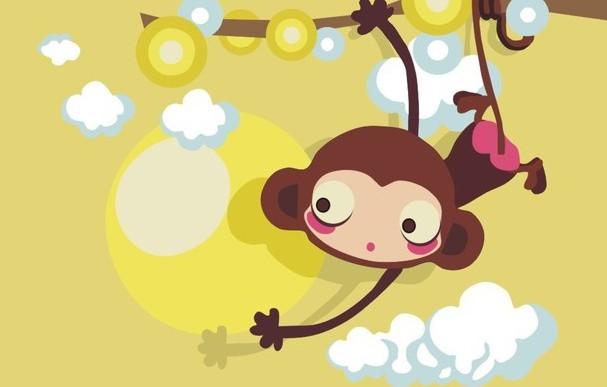 小猴子-水彩画图集