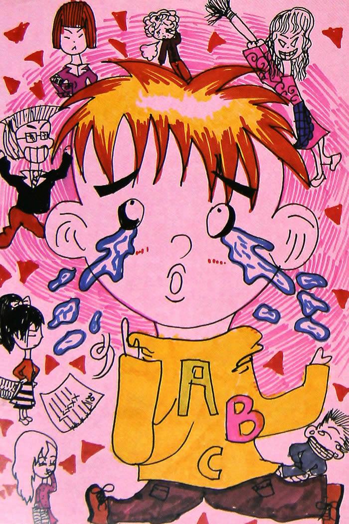 小男孩-水彩画图集图片