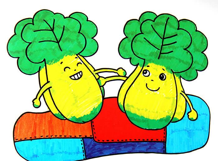 小白菜-水彩画图集