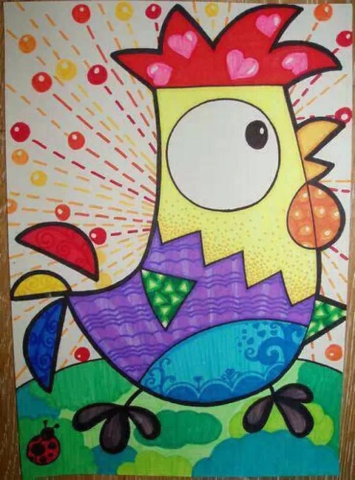 小雞-水彩畫圖集圖片_兒童水彩畫