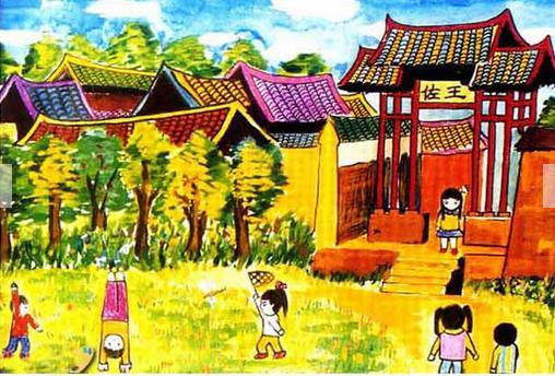 建筑-水彩画图集图片_儿童水彩画_少儿图库_中国儿童