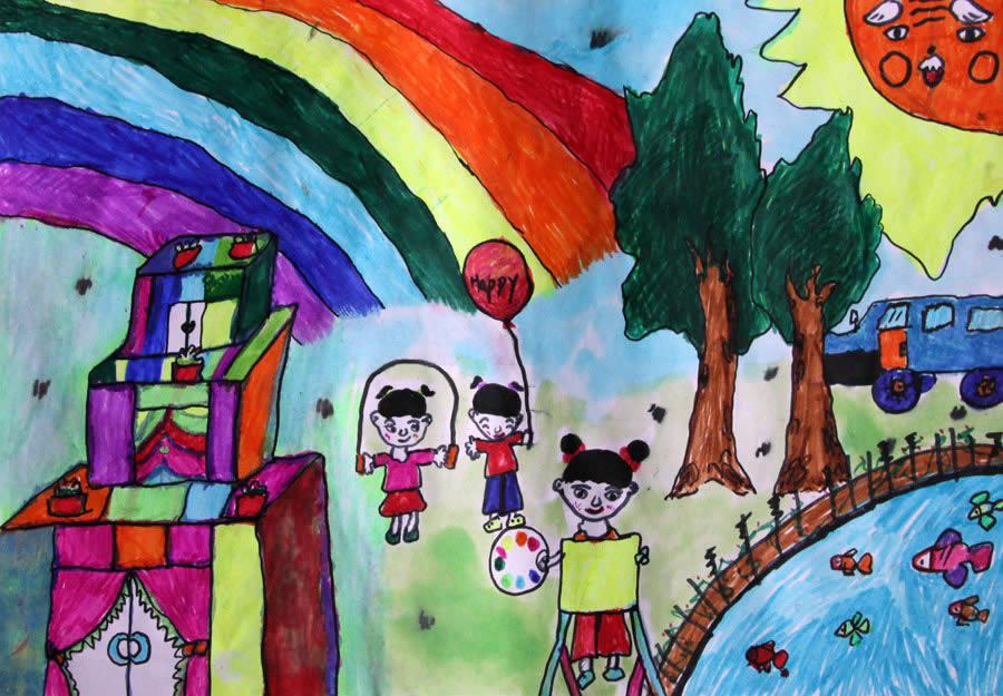 彩虹-水彩画图集