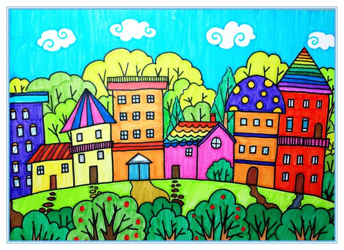 房子-水彩画图集