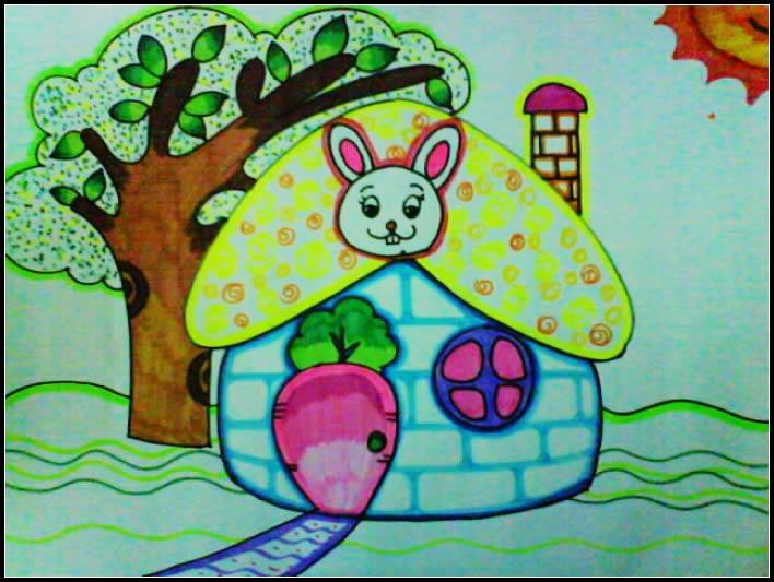 房子-水彩画图集图片_儿童水彩画_少儿图库_中国儿童