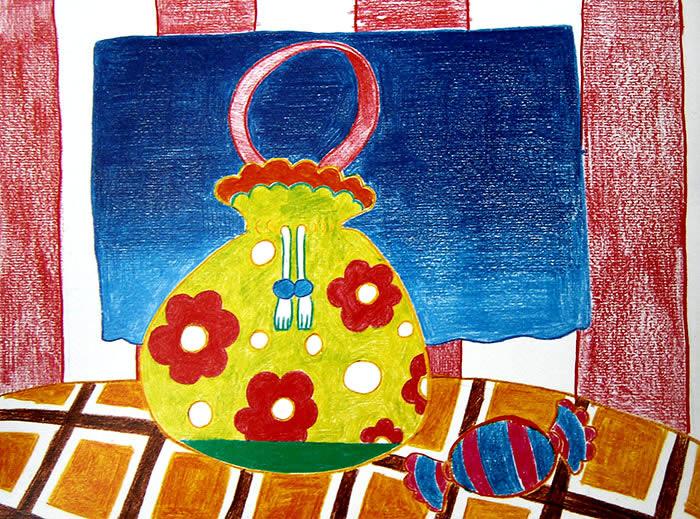 水彩画图集图片_儿童水彩画_少儿图库_中国-女士手提包简笔画图片