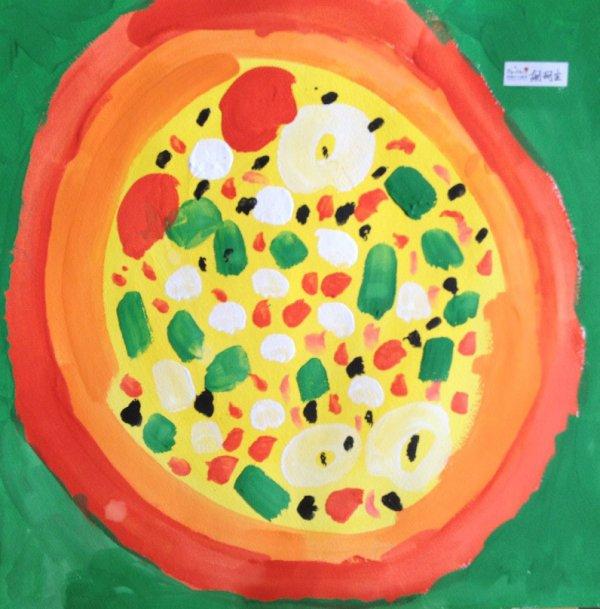 披萨-水彩画图集图片_儿童水彩画_少儿图库_中国儿童