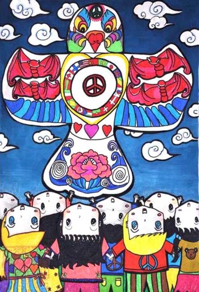 放风筝卡通-首页 图片 简笔画 儿童水彩画图片图片