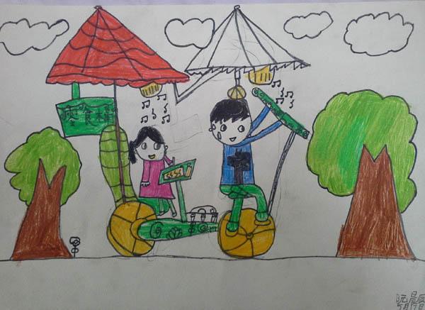 儿童画儿童简单水彩画图片 彩色的帆船