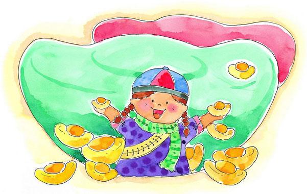 春节-水彩画图集