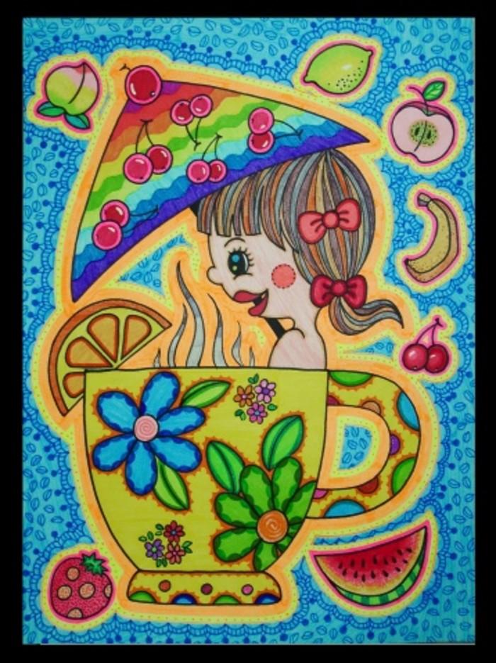 杯子-水彩画图集