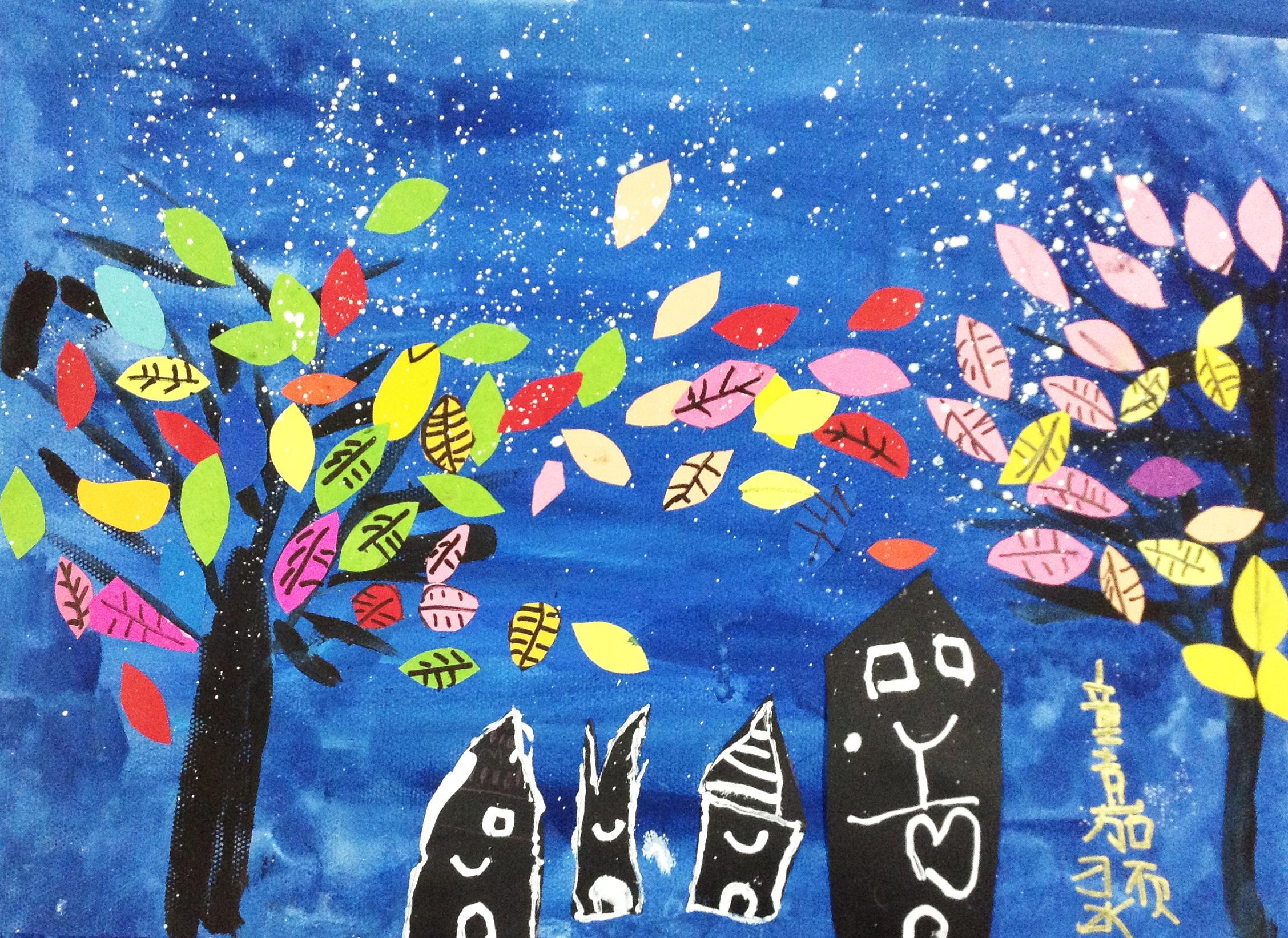 树-水彩画图集图片_儿童水彩画_少儿图库_中国儿童