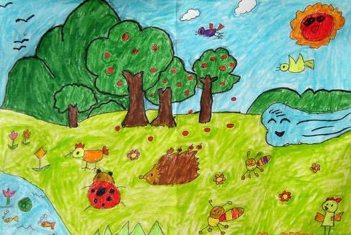 树林-水彩画图集