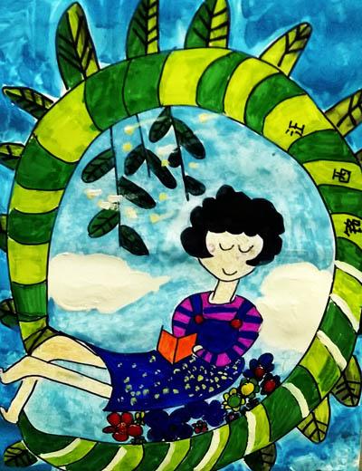 树藤-水彩画图集图片_儿童水彩画_少儿图库_中国儿童