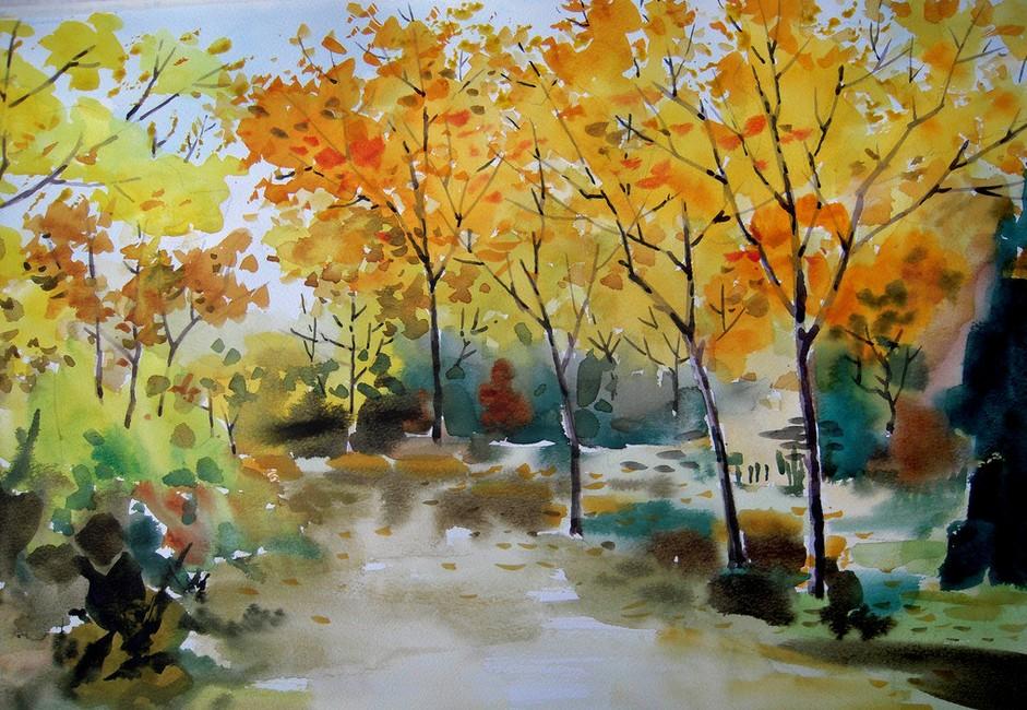 森林-水彩画图集