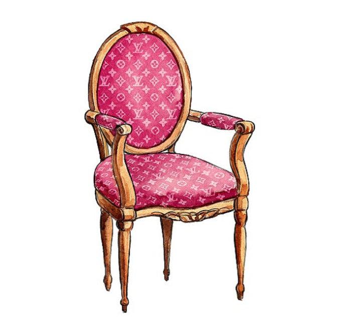 椅子-水彩画图集