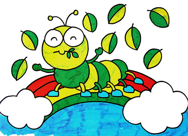 毛毛虫-水彩画图集