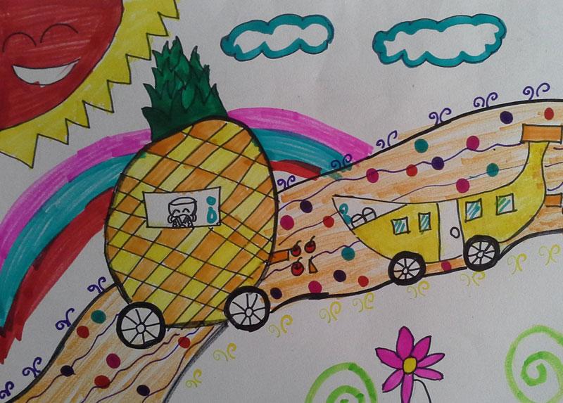 水果-水彩画图集图片_儿童水彩画_少儿图库_中国儿童