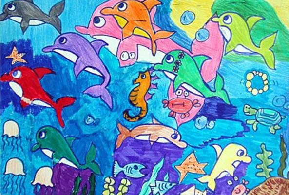 海底世界-水彩画图集