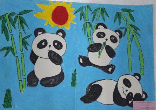 熊猫-水彩画图集