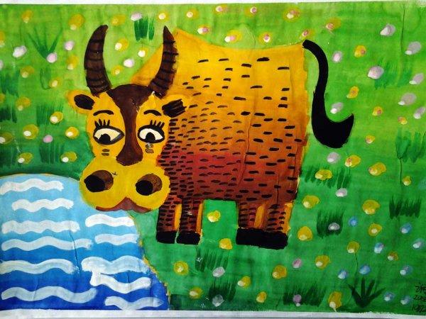 牛-水彩画图集