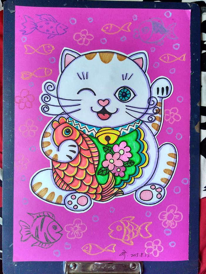 猫-水彩画图集
