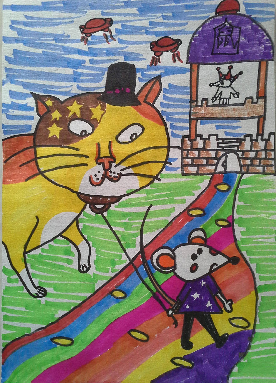 猫-水彩画图集图片_儿童水彩画_少儿图库_中国儿童-动物 素描图集图