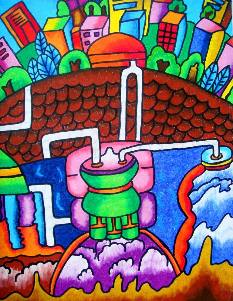 环保-水彩画图集图片_儿童水彩画_少儿图库_中国儿童图片