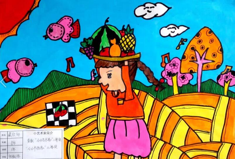 秋天-水彩画图集图片_儿童水彩画_少儿图库_中国儿童-儿童葫芦画简