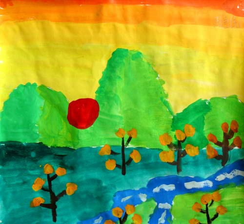 儿童水彩画