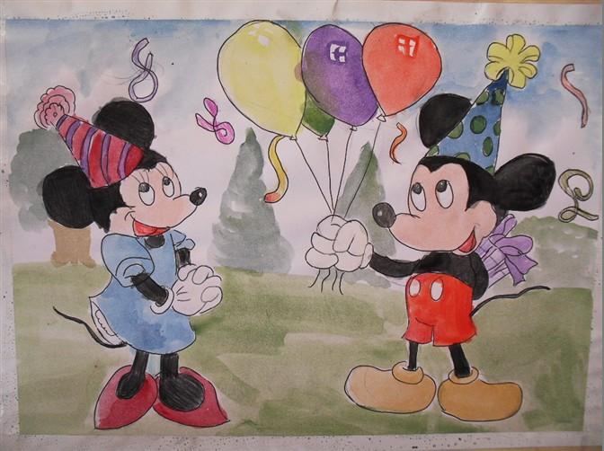 米老鼠-水彩画图集
