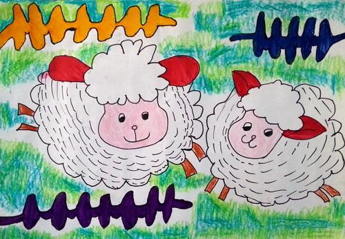 绵羊-水彩画图集图片_儿童水彩画_少儿图库_中国儿童