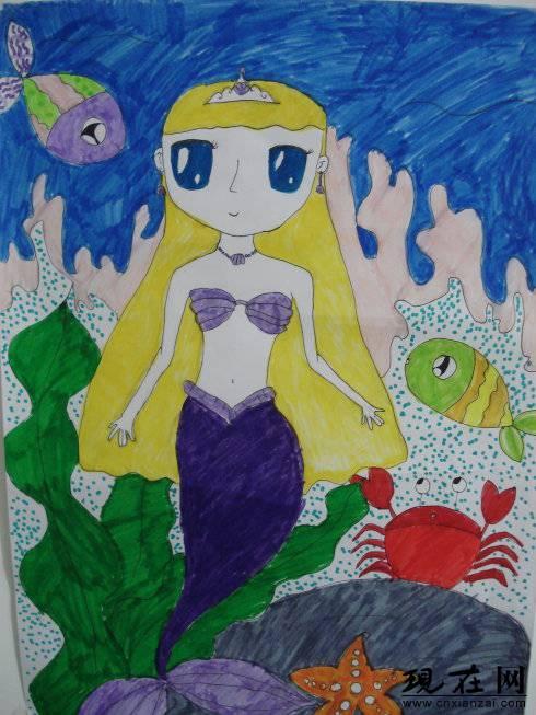 美人鱼-水彩画图集