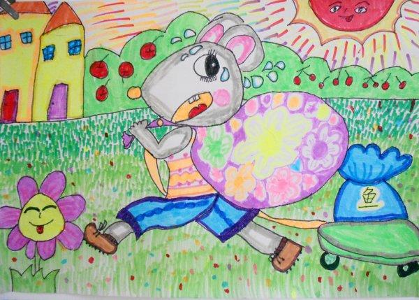 老鼠-水彩画图集图片