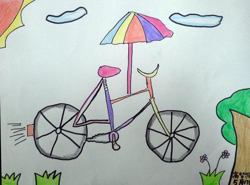 自行车-水彩画图集图片_儿童水彩画_少儿图库_中国图片