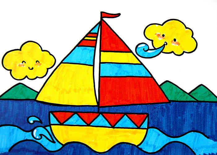 船-水彩画图集图片_儿童水彩画_少儿图库_中国儿童