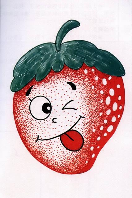 草莓-水彩画图集图片_儿童水彩画_少儿图库_中国儿童