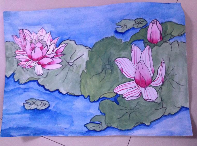 荷花-水彩画图集