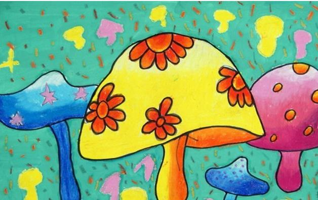 蘑菇-水彩画图集