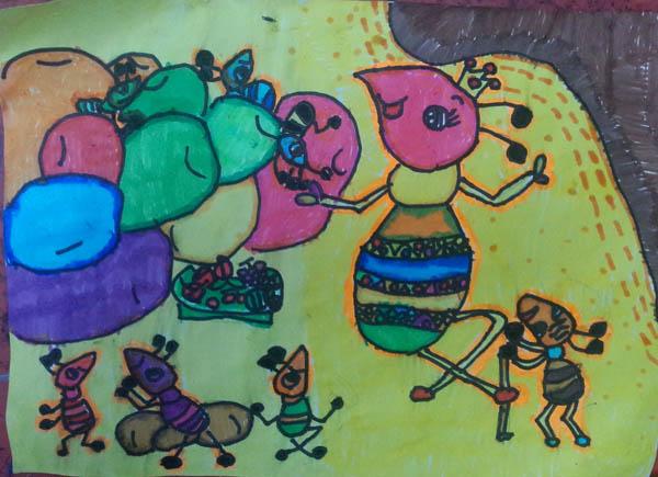 蚂蚁-水彩画图集