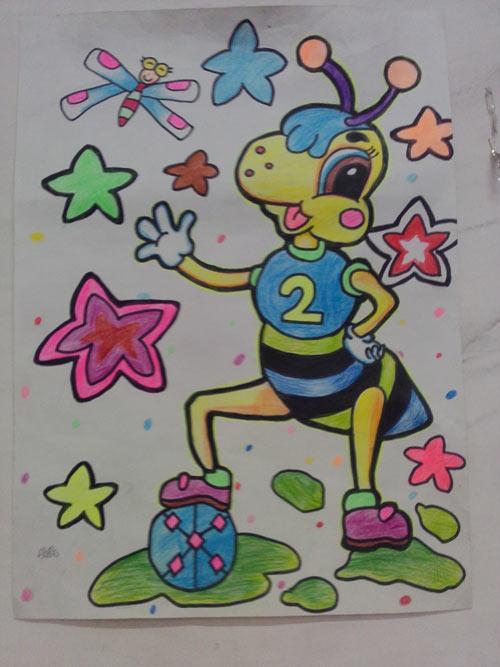 蚂蚁-水彩画图集图片_儿童水彩画_少儿图库_中国儿童