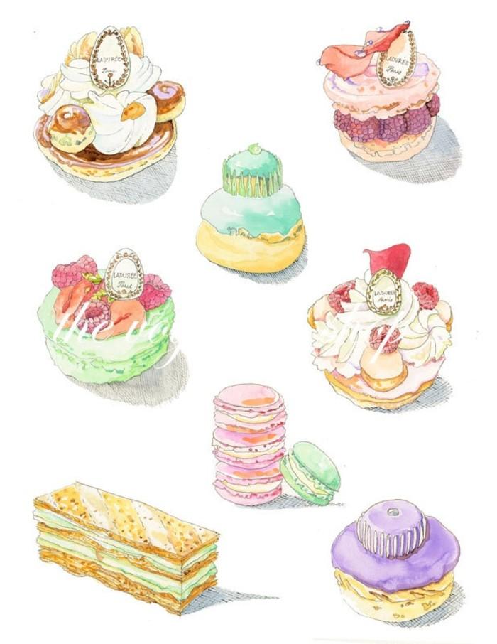 蛋糕-水彩画图集