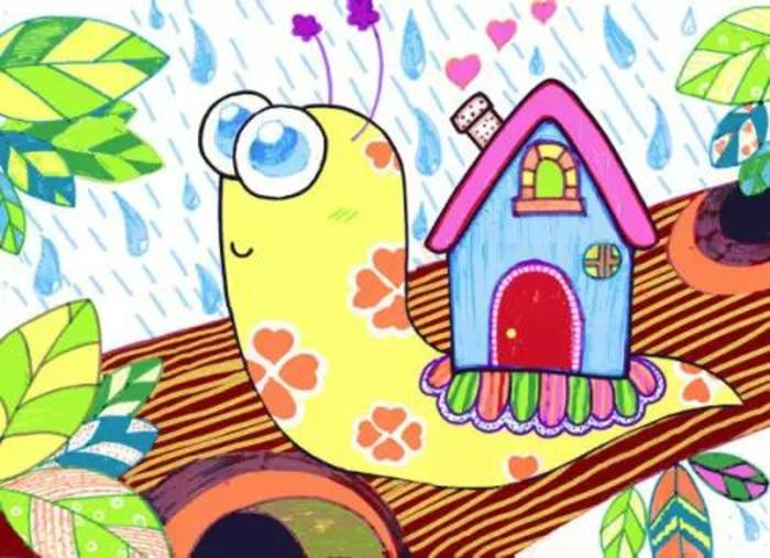 蜗牛-水彩画图集