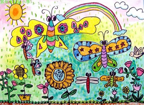 蝴蝶-水彩画图集图片_儿童水彩画_少儿图库_中国儿童