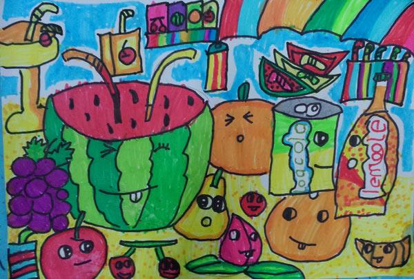 西瓜-水彩画图集