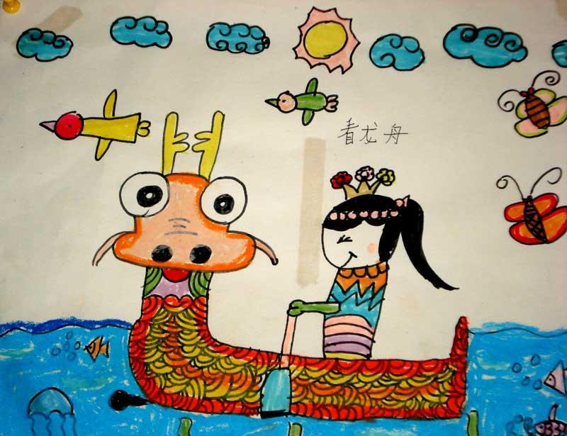 赛龙舟-水彩画图集图片_儿童水彩画_少儿图库_中国