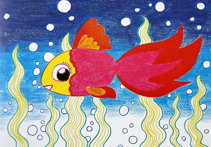 金鱼-水彩画图集
