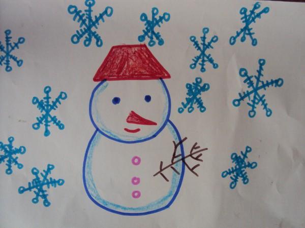 幼儿简笔画冬天的景色